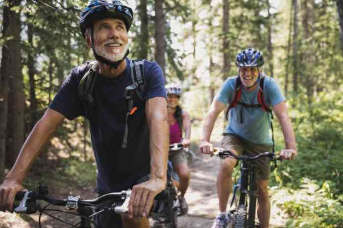 On a mountain bike: don't let hearing loss affect an active lifestyle