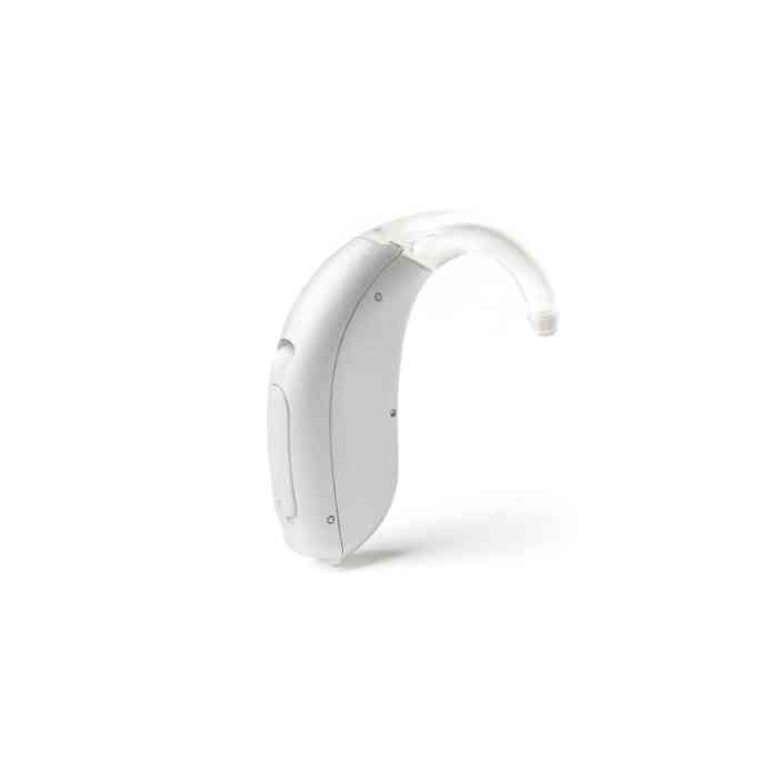 Discrete but powerful Mini Behind-The-Ear hearing aid