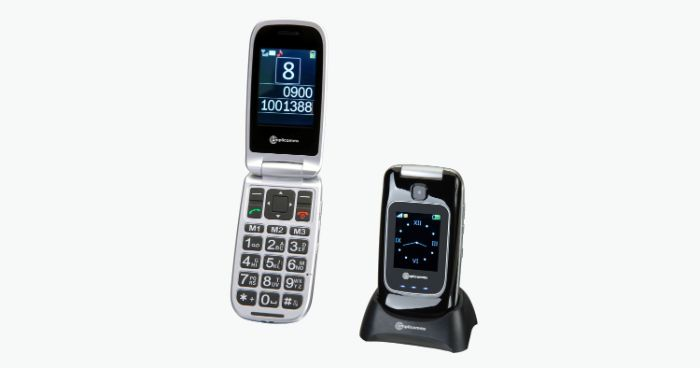"Flip Phone for hearing impaired ""PowerTel M7510-3G"""