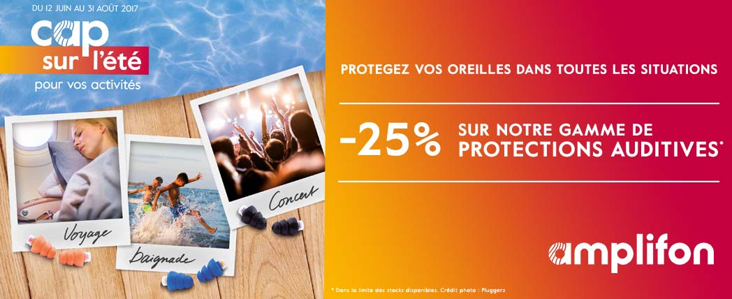 Promotion sur les protections auditives.